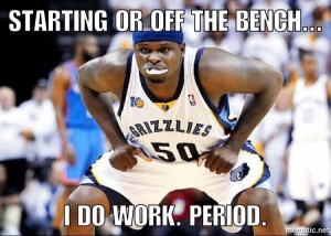 Just another day in the office for Zbo.