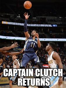 Captain Clutch returns!