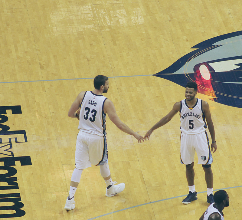 Marc Gasol and Andrew Harrison