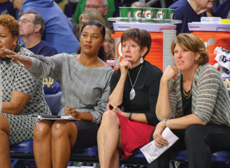Niele Ivey and Muffet McGraw